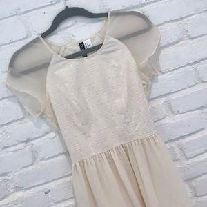 H&M Ivory flowy dress